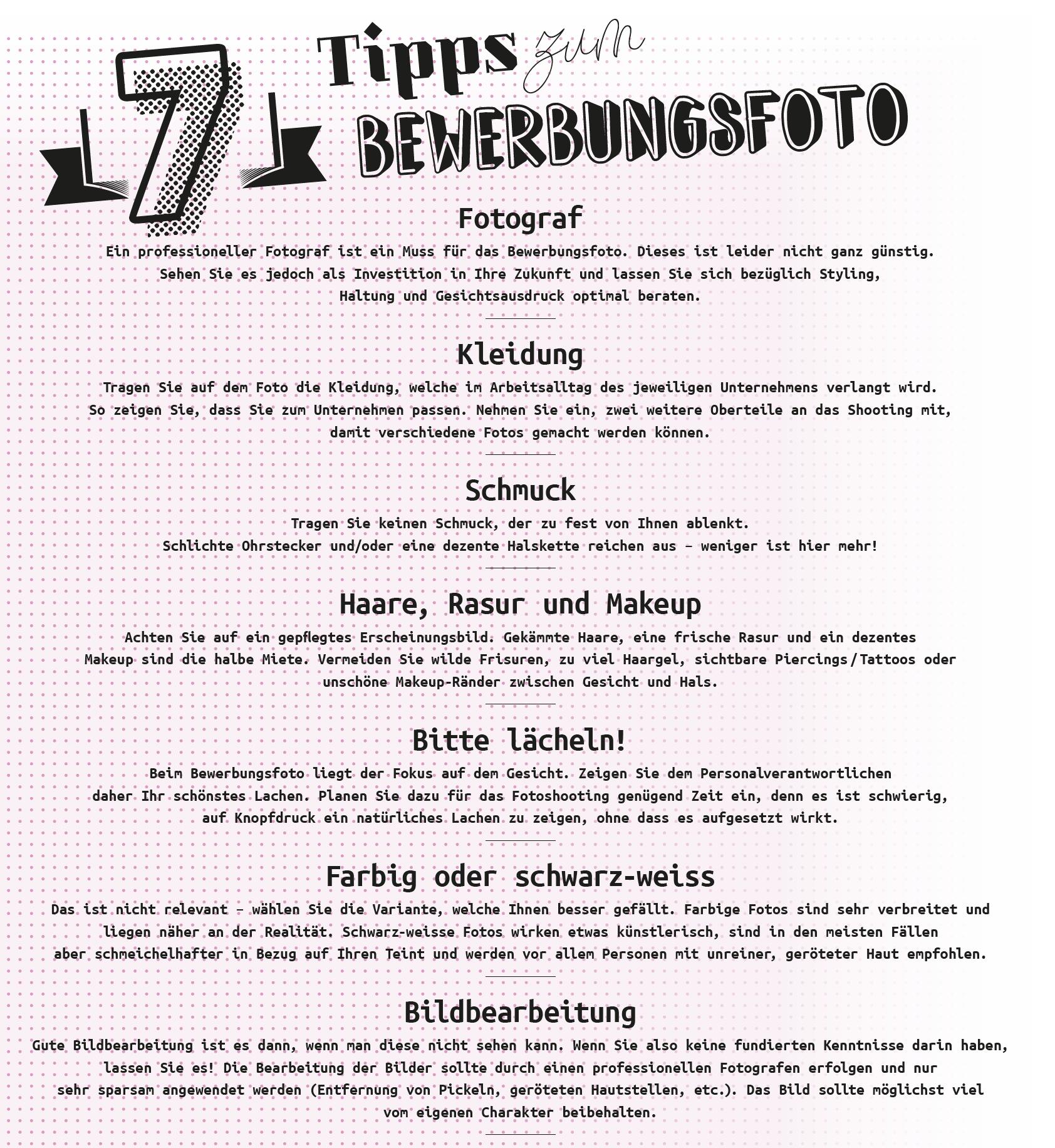 7 Tipps zum Bewerbungsbild